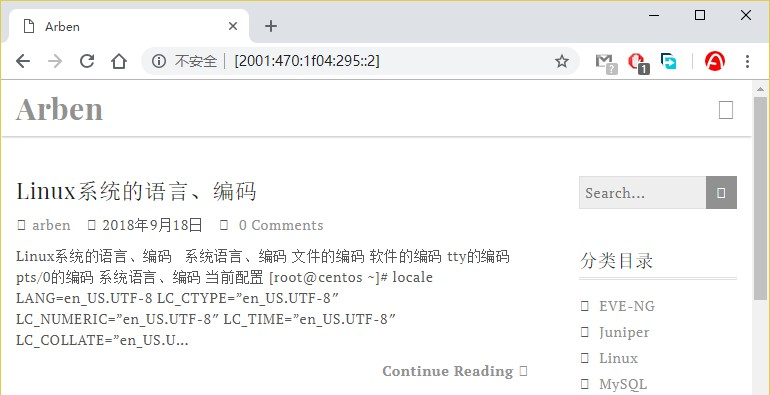 直接使用IPv6地址访问网站